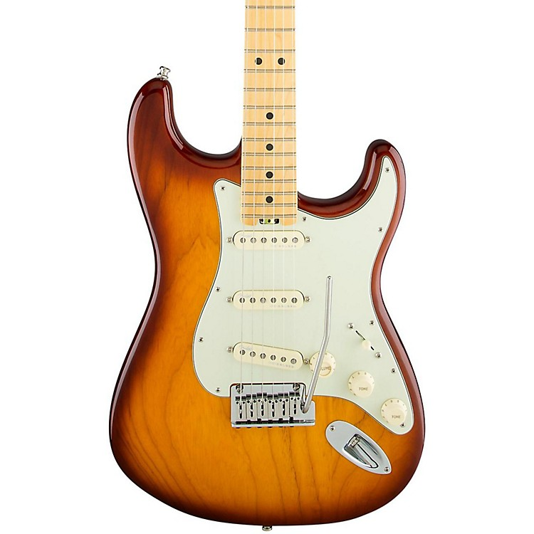 FenderAmerican Elite Stratocaster Maple Fingerboard Electric GuitarAged Cherry Burst