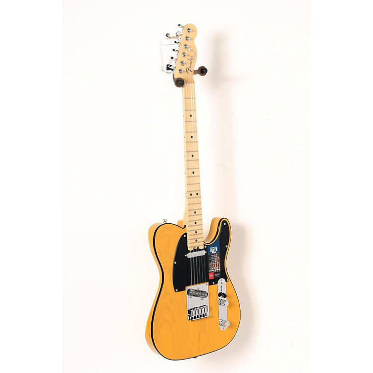 Fender American Elite Telecaster Maple Fingerboard Electric Guitar Butterscotch Blonde 888365911526