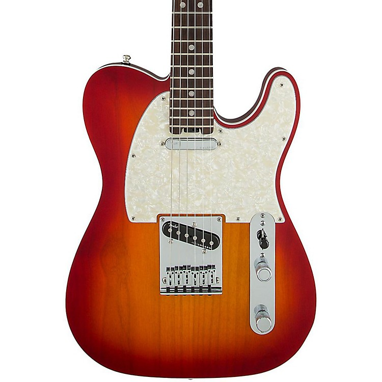 FenderAmerican Elite Telecaster Rosewood Fingerboard Electric GuitarAged Cherry Burst