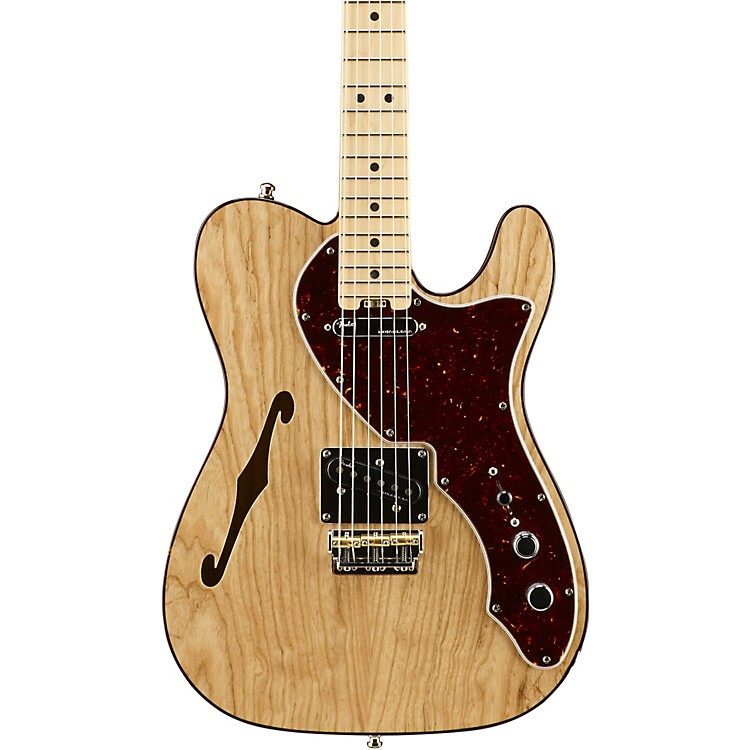 Fender American Elite Telecaster Thinline Maple Fingerboard Electric Guitar Natural 888365854533