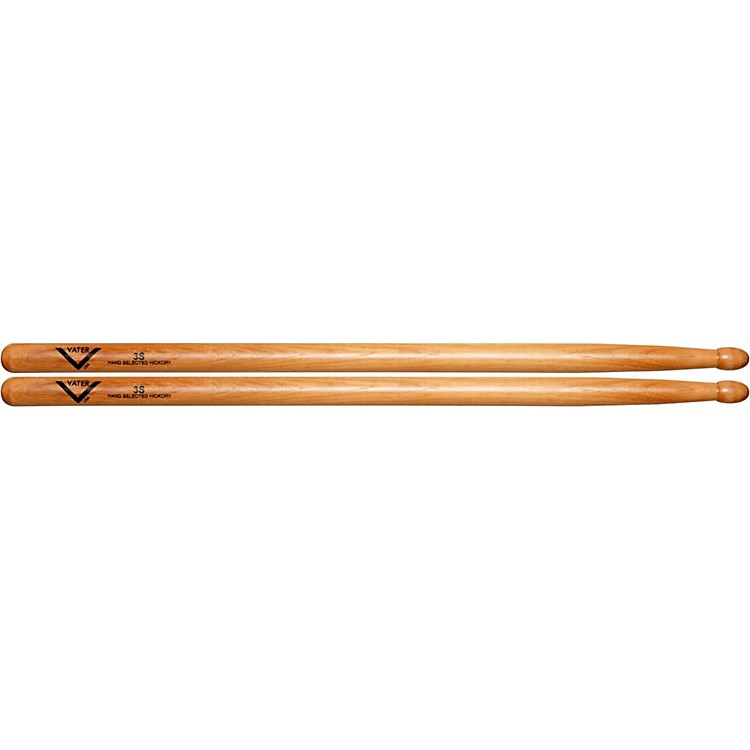 Vater American Hickory 3S Drumsticks  Wood