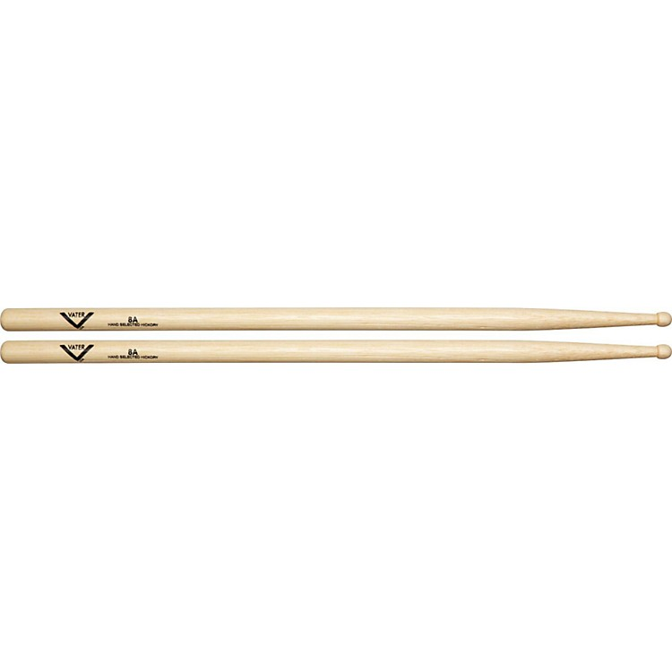 Vater American Hickory 8A Drumsticks  Wood