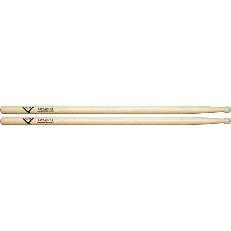 Vater American Hickory Fatback 3A Drumsticks  Nylon
