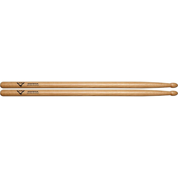 Vater American Hickory Nightstick 2S Drum Sticks  Wood