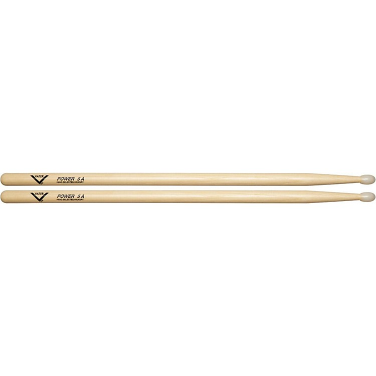 Vater American Hickory Power 5A Drumsticks  Nylon