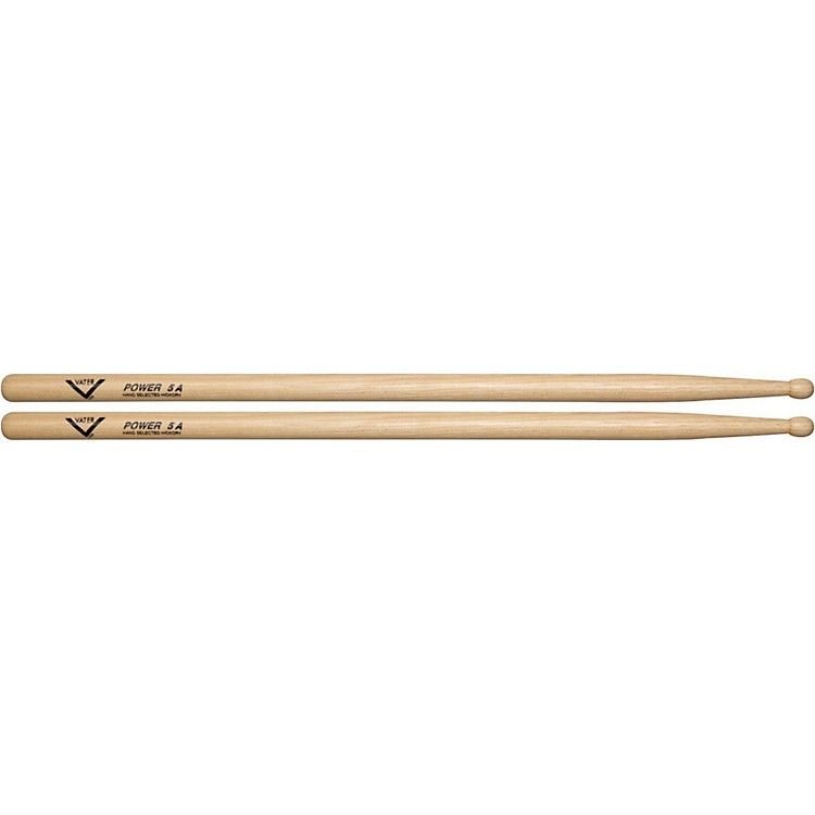 Vater American Hickory Power 5A Drumsticks  Wood