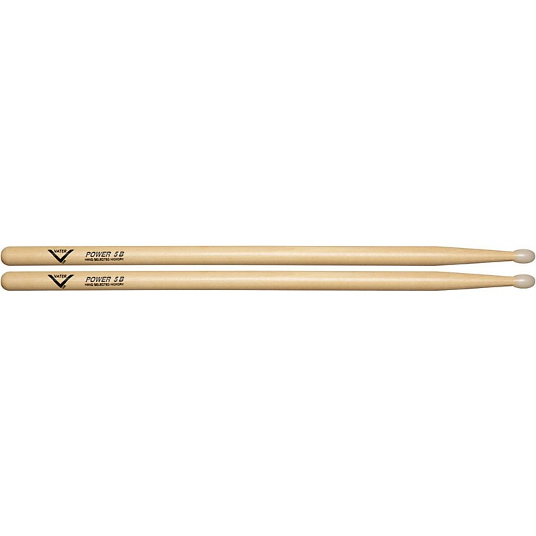 Vater American Hickory Power 5B Drumsticks  Wood
