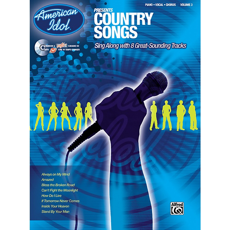 AlfredAmerican Idol Presents Country Songs Book and CD