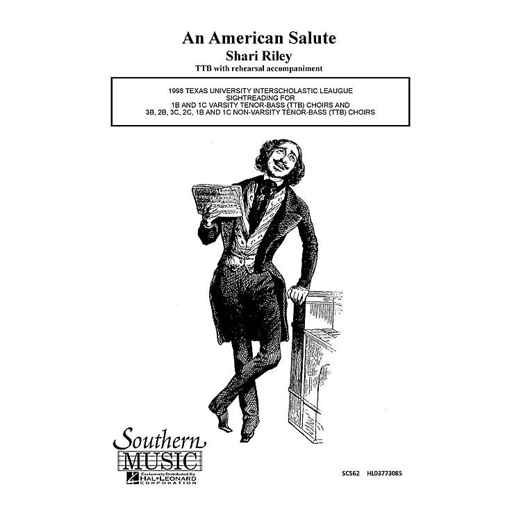 Hal LeonardAmerican Salute (Choral Music/Octavo Secular Ttb) TTB Composed by Riley, Shari