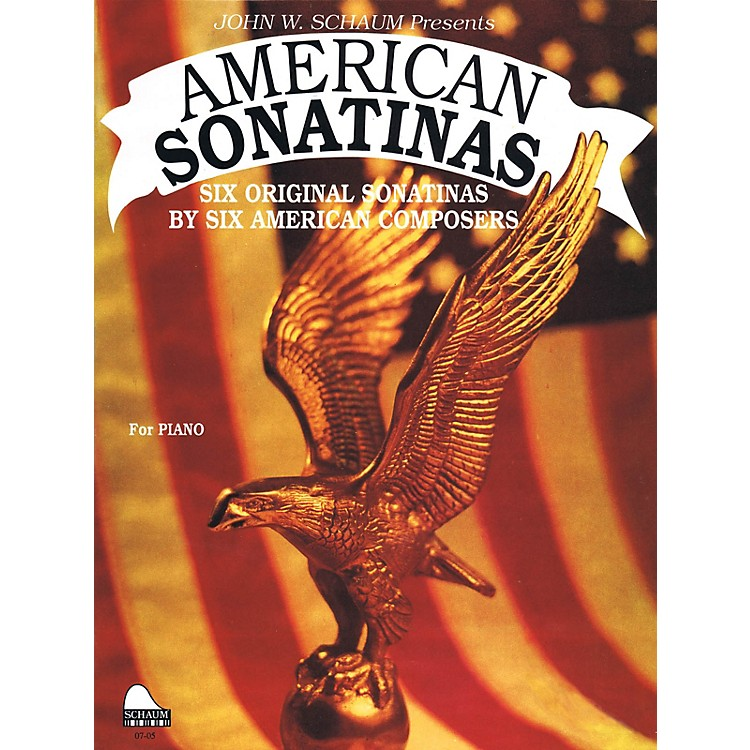 SCHAUMAmerican Sonatinas Educational Piano Series Softcover