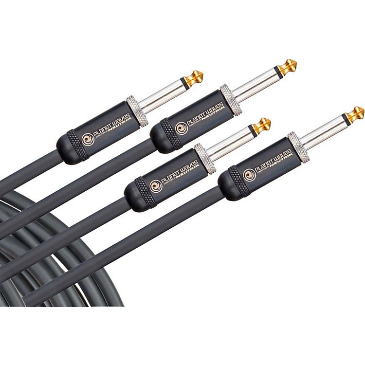 D'Addario Planet Waves American Stage Instrument Cable 2-Pack 10 ft. Black