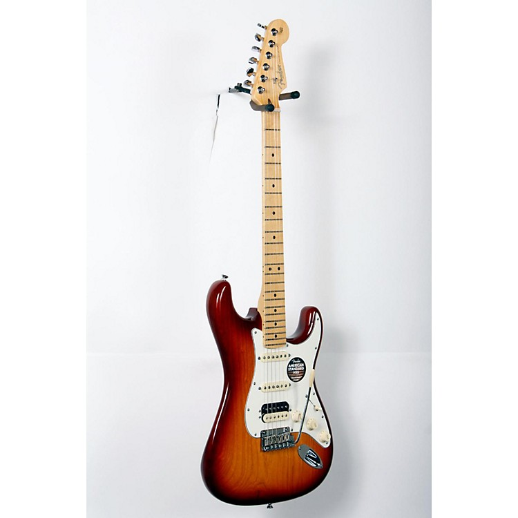 Fender American Standard Stratocaster HSS Shawbucker Maple Fingerboard Electric Guitar Sienna Sunburst 888365760902