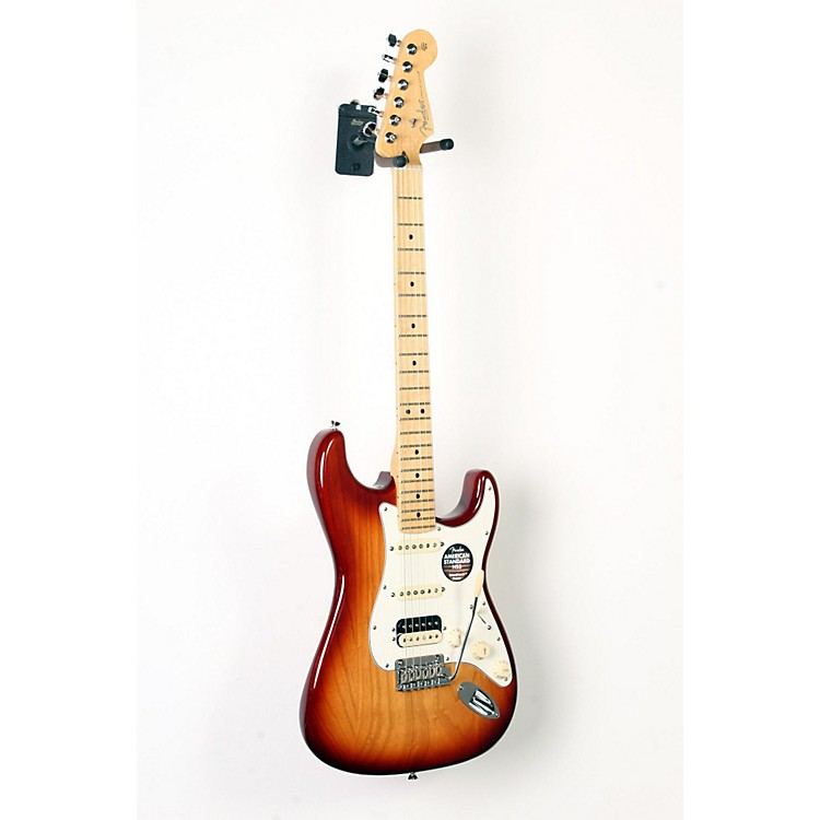 FenderAmerican Standard Stratocaster HSS Shawbucker Maple Fingerboard Electric GuitarSienna Sunburst888365900162