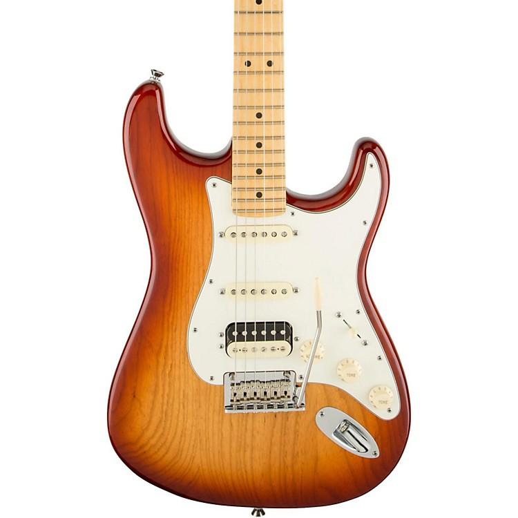 FenderAmerican Standard Stratocaster HSS Shawbucker Maple Fingerboard Electric GuitarSienna Sunburst