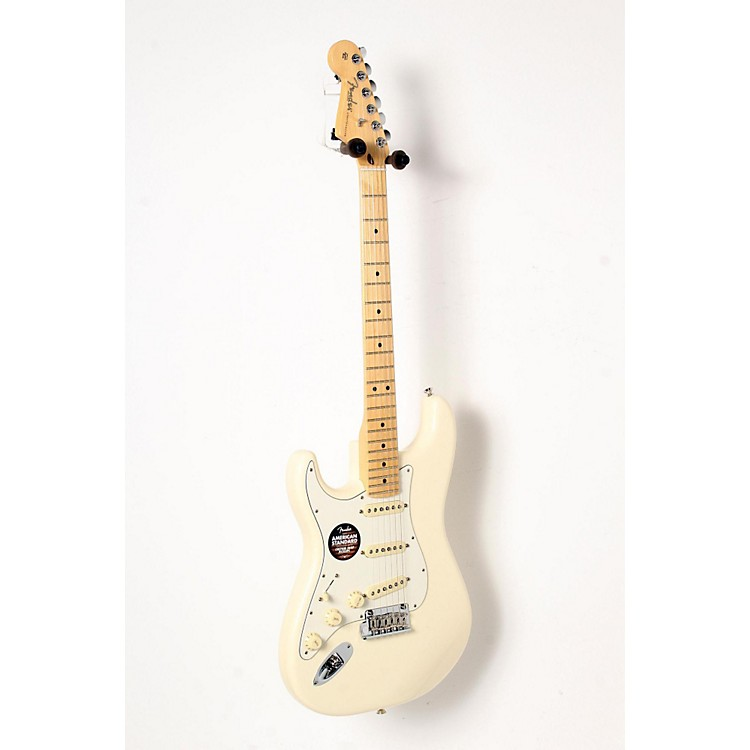 Fender American Standard Stratocaster Left-Handed Electric Guitar with Maple Fretboard Olympic White, Maple Fingerboard 888365843513