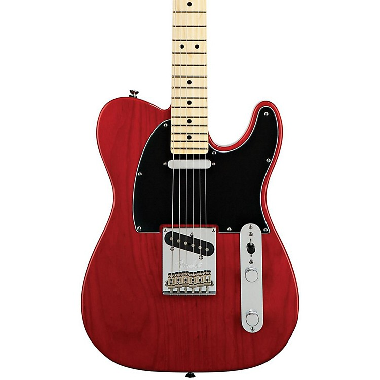 Fender American Standard Telecaster Electric Guitar with Maple Fingerboard Transparent Crimson Red Maple Fingerboard