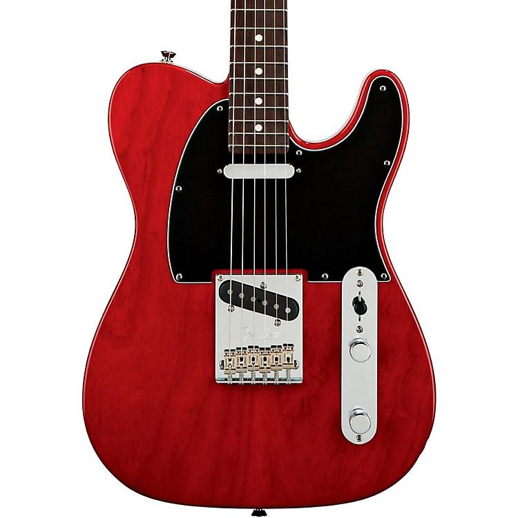 FenderAmerican Standard Telecaster Electric Guitar with Rosewood FingerboardTransparent Crimson RedRosewood Fingerboard