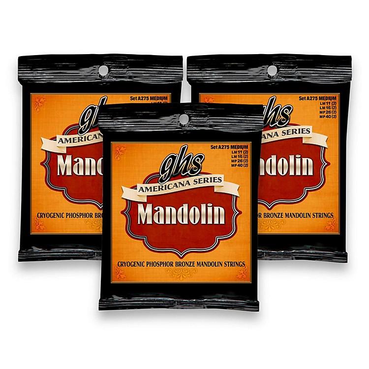GHSAmericana Medium Mandolin Strings (11-40) - 3 Pack