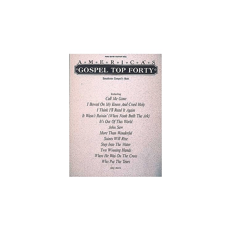 Hal LeonardAmerica's Gospel Top Forty Piano/Vocal/Guitar Songbook