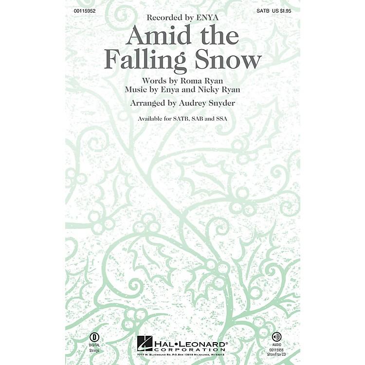 Hal LeonardAmid the Falling Snow SAB by Enya Arranged by Audrey Snyder