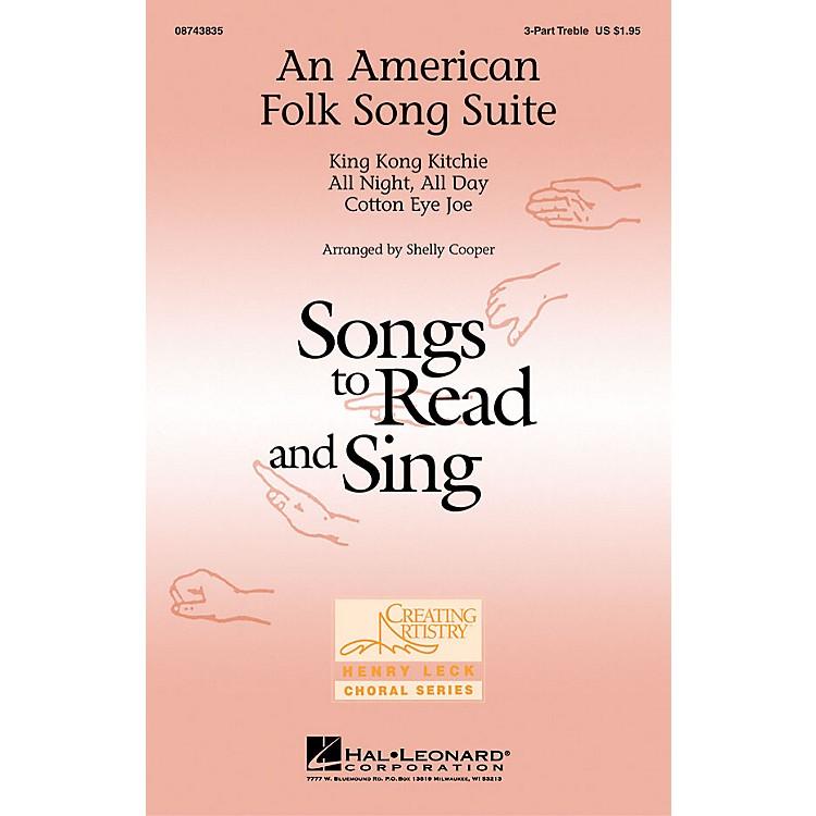 Hal LeonardAn American Folk Song Suite 3 Part Treble arranged by Shelly Cooper
