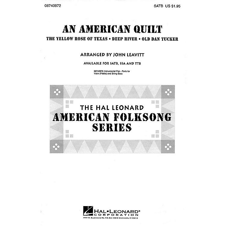Hal LeonardAn American Quilt (A Collection of 3 American Folksongs) TTB Arranged by John Leavitt