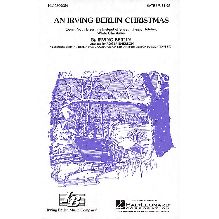 Hal Leonard An Irving Berlin Christmas (Medley) SATB arranged by Roger Emerson