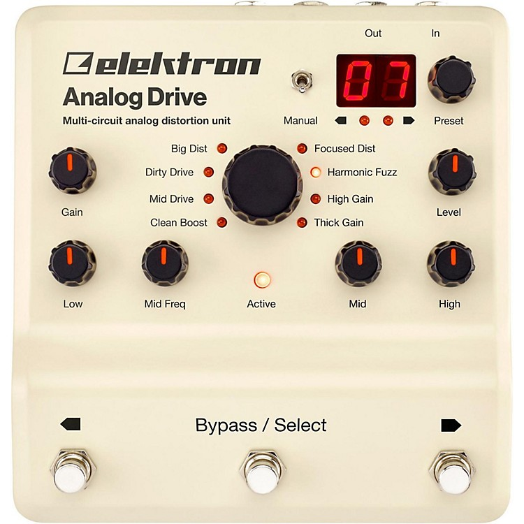 Elektron Analog Drive Multi-Circuit Analog Distortion Unit Pedal