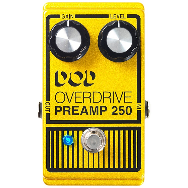 DODAnalog Overdrive Preamp 250 Guitar Effects Pedal with True-Bypass and LED