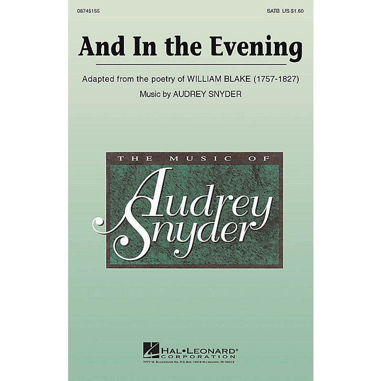 Hal LeonardAnd In The Evening SATB composed by Audrey Snyder