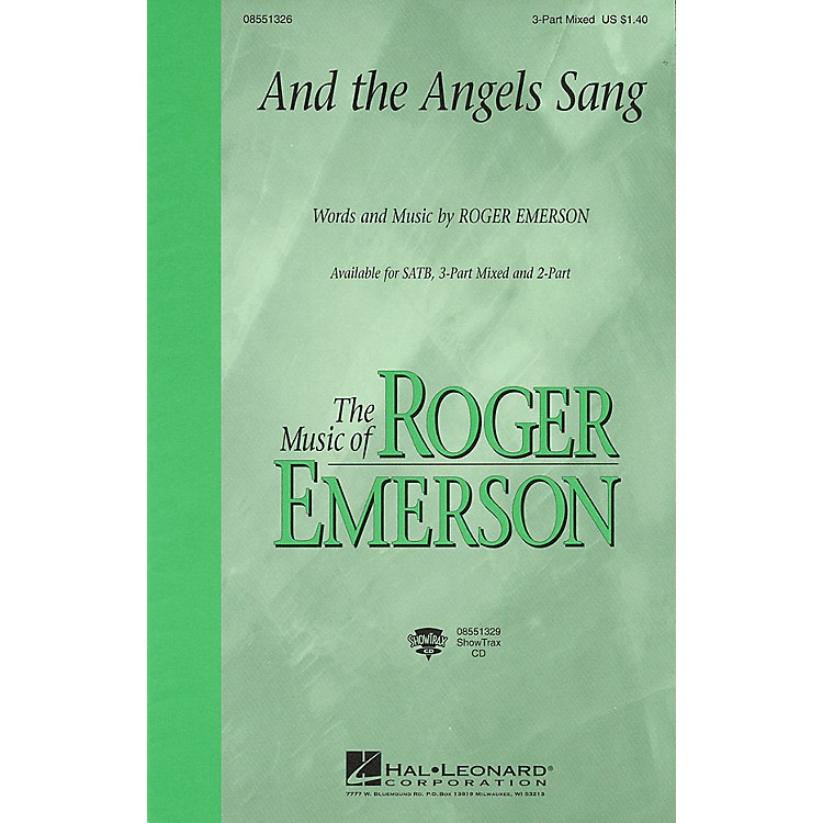 Hal Leonard And the Angels Sang 3-Part Mixed composed by Roger Emerson