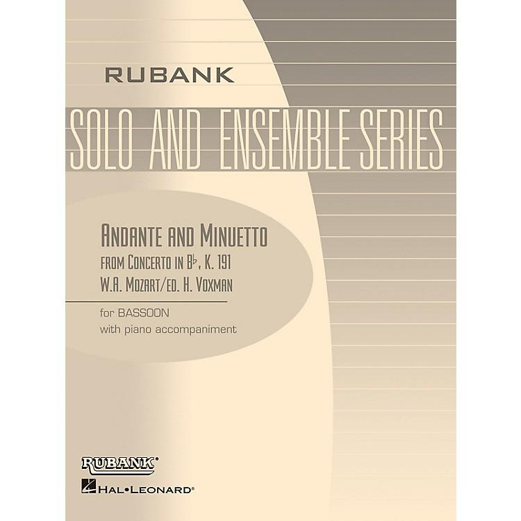 Rubank PublicationsAndante and Menuetto (from Conc in Bb, K.191) Rubank Solo/Ensemble Sheet Series