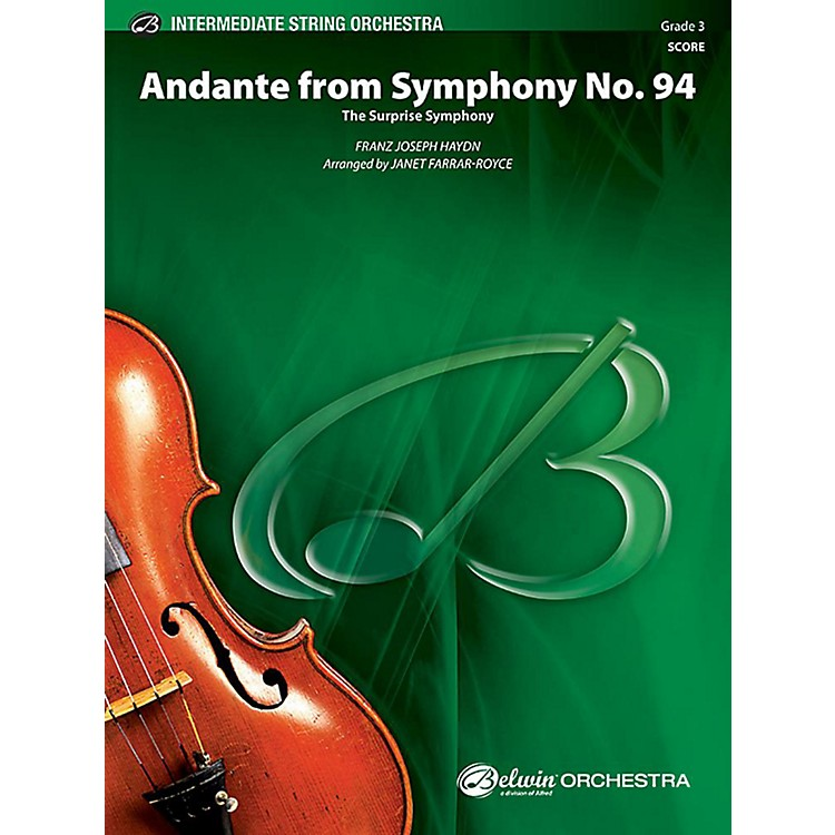 AlfredAndante from Symphony No. 94 String Orchestra Grade 3 Set