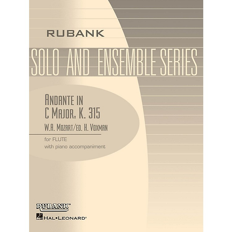 Rubank PublicationsAndante in C Major, K. 315 (Flute Solo with Piano - Grade 4) Rubank Solo/Ensemble Sheet Series