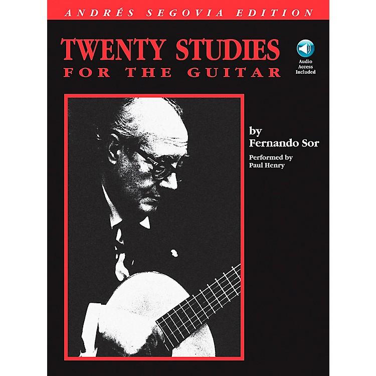 Hal LeonardAndres Segovia - 20 Studies for The Guitar Book/CD Package