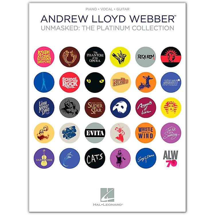 Hal LeonardAndrew Lloyd Webber - Unmasked: The Platinum Collection - for Piano/Vocal/Guitar