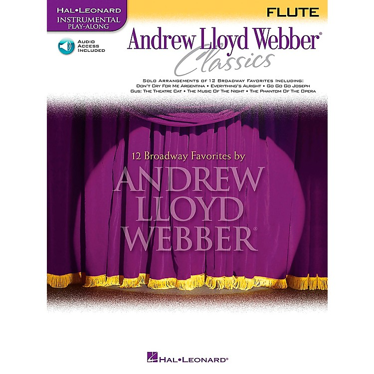 Hal Leonard Andrew Lloyd Webber Classics for Flute Book/CD