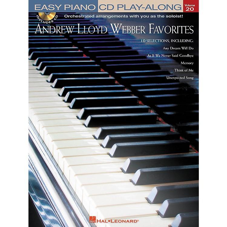 Hal LeonardAndrew Lloyd Webber Favorites - Easy Piano CD Play-Along Volume 20 Book/CD