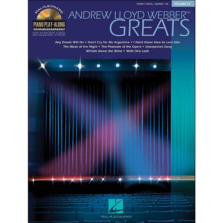 Hal LeonardAndrew Lloyd Webber Greats Volume 27 Book/CD Piano Play-Along arranged for piano, vocal, and guitar (P/V/G)