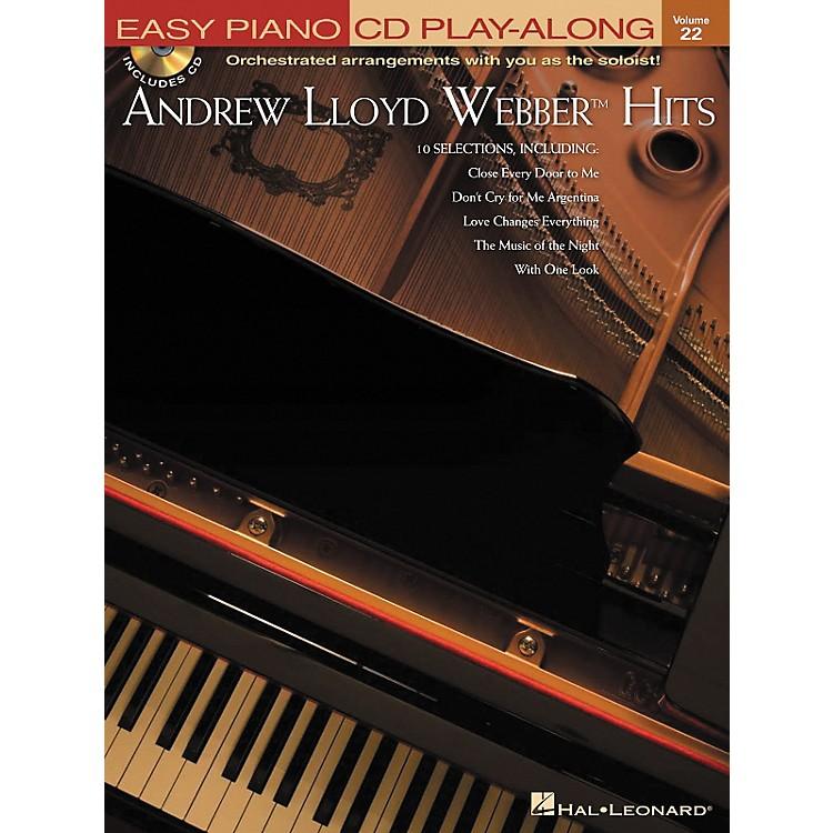Hal LeonardAndrew Lloyd Webber Hits - Easy Piano CD Play-Along Volume 22 Book/CD