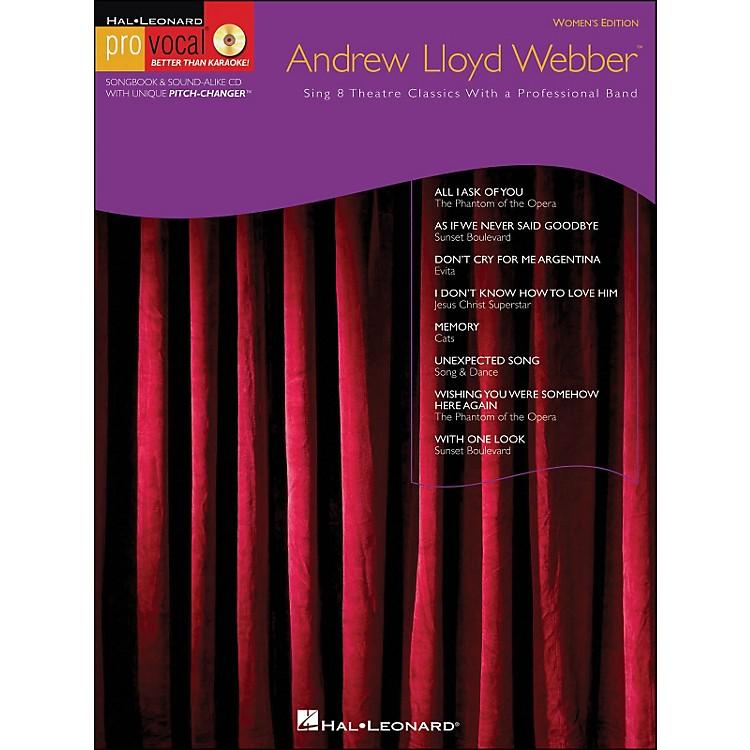 Hal LeonardAndrew Lloyd Webber Pro Vocal Series Women's Edition Book/CD Volume 10