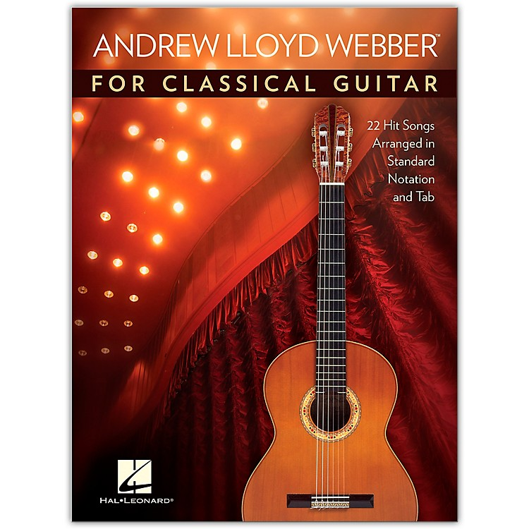 Hal LeonardAndrew Lloyd Webber for Classical Guitar - 22 Hit Songs Arranged in Standard Notation and Tab