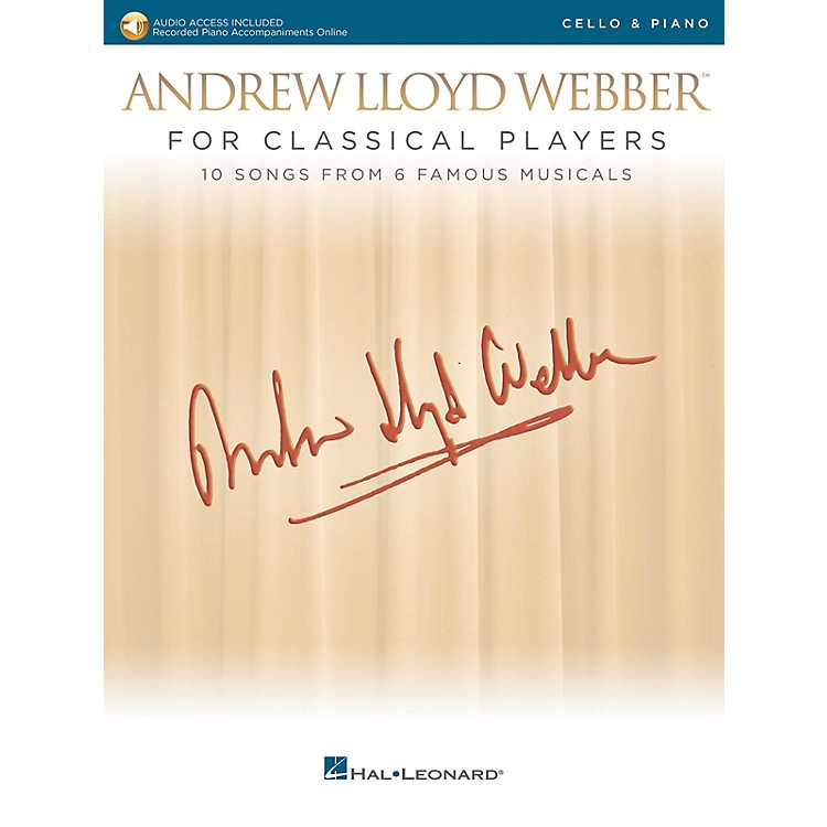 Hal LeonardAndrew Lloyd Webber for Classical Players - Cello and Piano Book/Audio Online