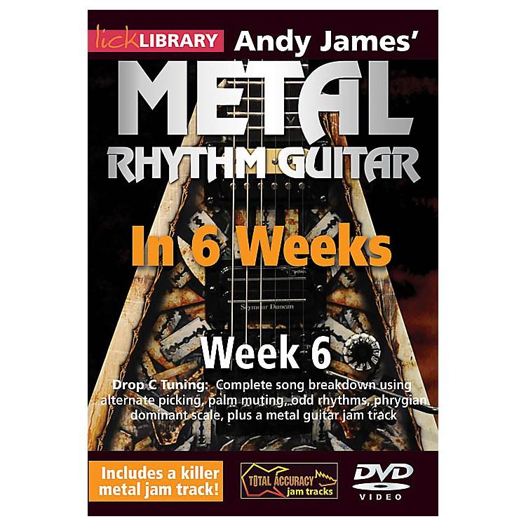 LicklibraryAndy James' Metal Rhythm Guitar in 6 Weeks (Week 6) Lick Library Series DVD Performed by Andy James
