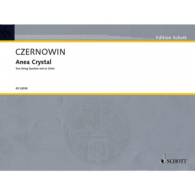 SchottAnea Crystal (String Quartet or Two String Quartets) String Series Softcover Composed by Chaya Czernowin