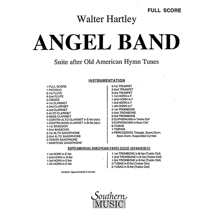 SouthernAngel Band (Band/Concert Band Music) Concert Band Level 4 Composed by Walter S. Hartley