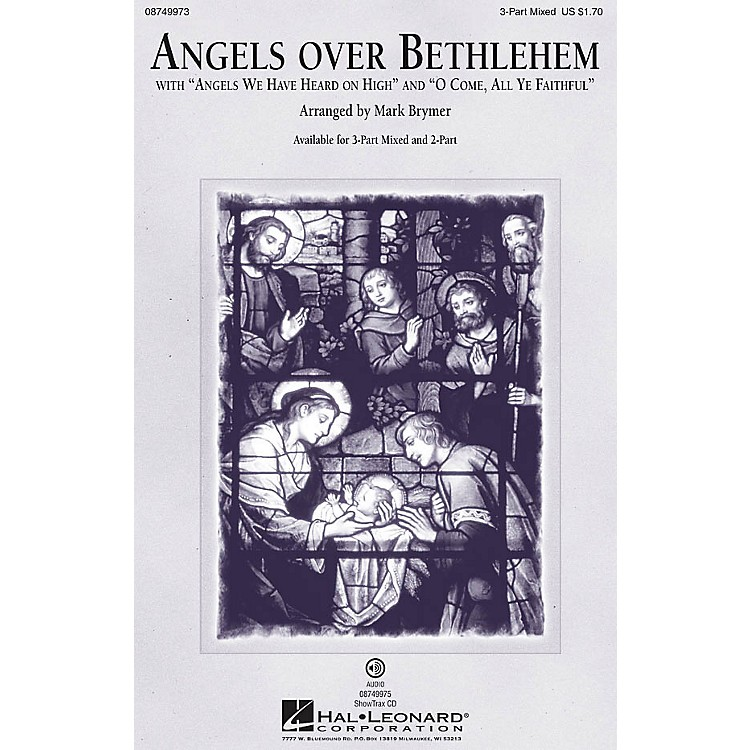 Hal LeonardAngels Over Bethlehem 3-Part Mixed arranged by Mark Brymer