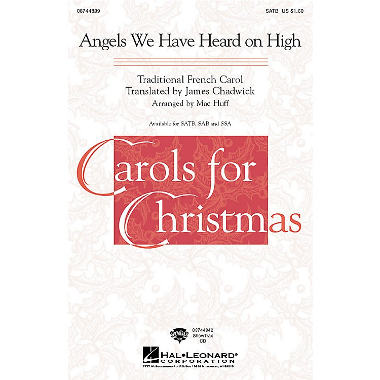 Hal Leonard Angels We Have Heard on High ShowTrax CD Arranged by Mac Huff
