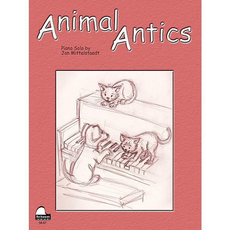 SCHAUMAnimal Antics Educational Piano Series Softcover