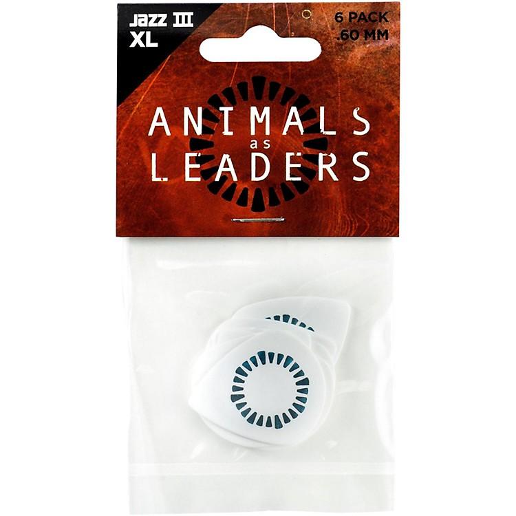 DunlopAnimals as Leaders Tortex Jazz III, White Guitar Picks.60 mm6 Pack